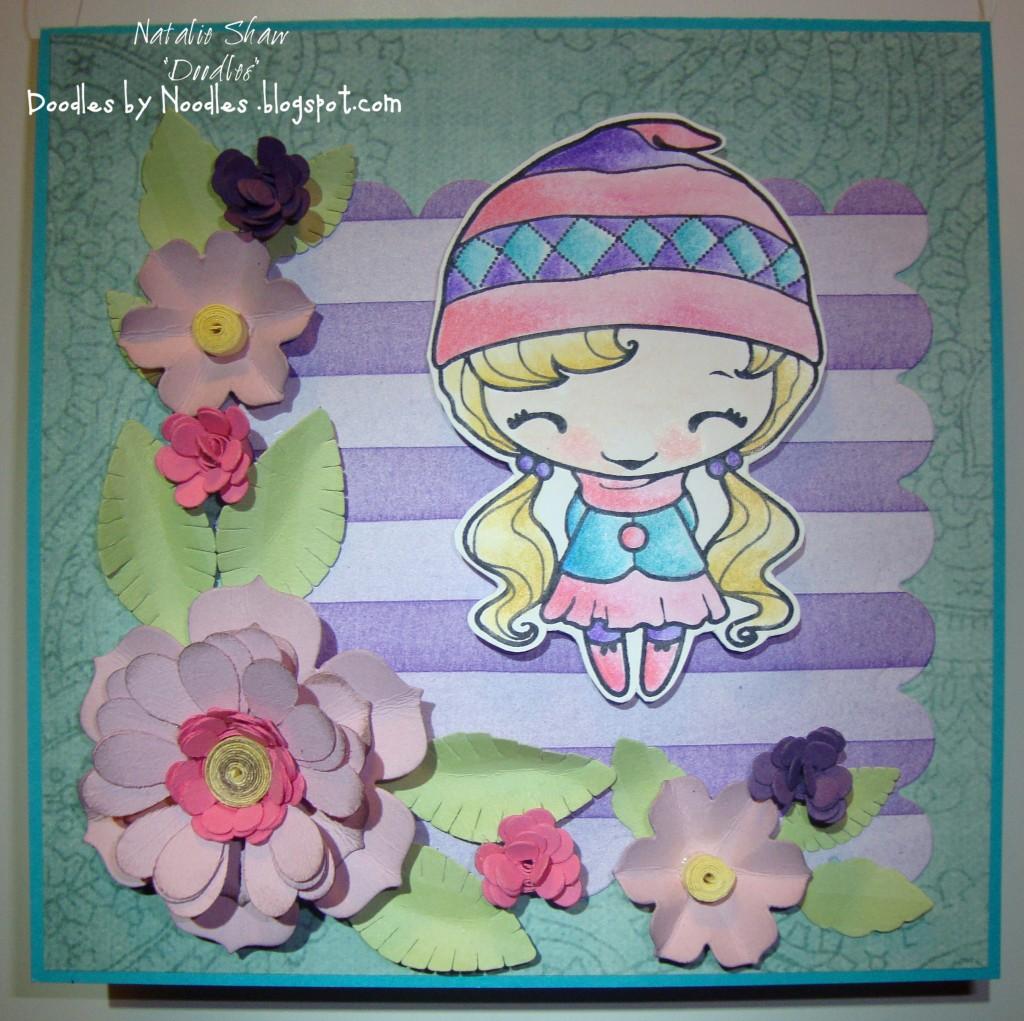 flower beanie anya front